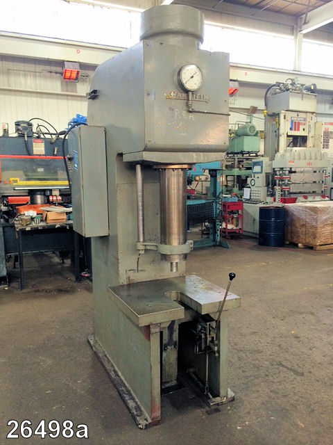 Used 50 Ton Hannifin Hydraulic C Frame Press Kempler Industries