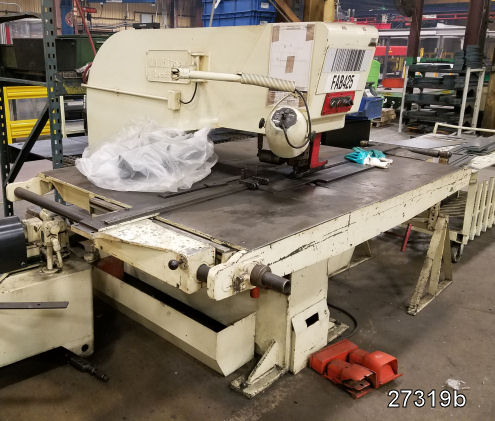 USED 30 TON W A  WHITNEY HYDRAULIC SHEET METAL PUNCH