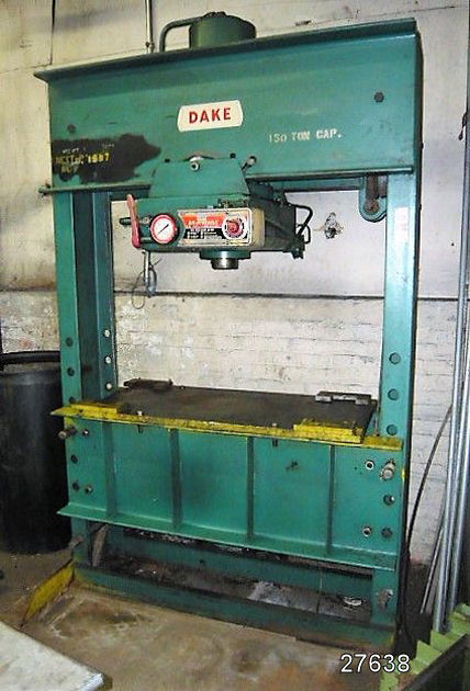 USED 150 TON DAKE HYDRAULIC H-FRAME PRESS | Kempler Industries