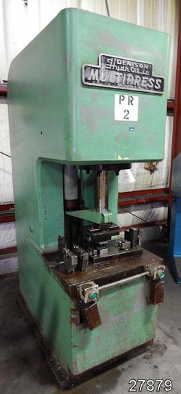 USED 25 TON DENISON HYDRAULIC C-FRAME PRESS   Kempler Industries