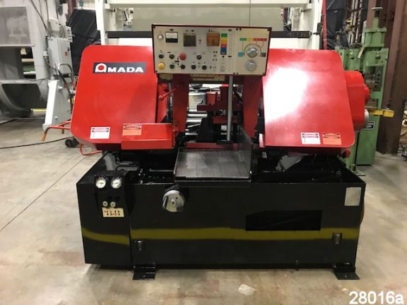 """For Sale: Used 16"""" X 16"""" Amada Automatic Horizontal Band Saw from kempler.com"""