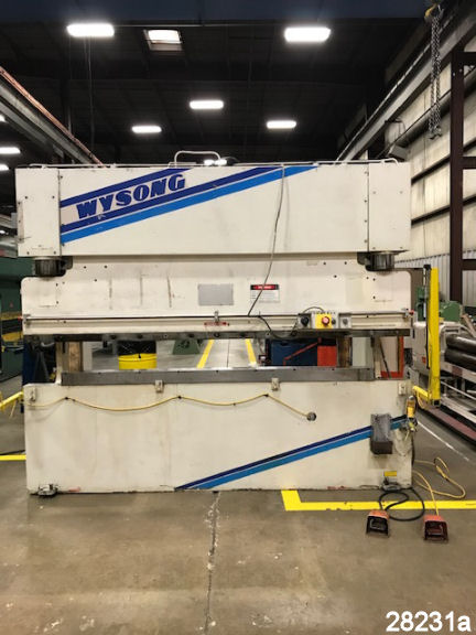 For Sale: Used 10 Ft. X 10 Ga. Wysong Hydraulic Press Brake from kempler.com