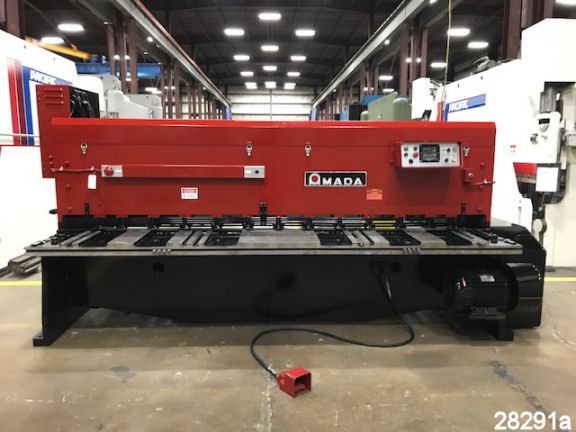 """For Sale: Used 10 Ft. X 1/4"""" Amada Metal Shear from Kempler.com"""