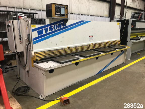 "For Sale: Used 12 Ft. X 1/4"" Wysong CNC Hydraulic Shear"