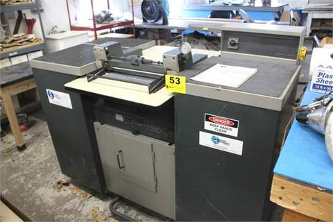 FORTUNA-SAS / HUDSON MODEL AN-400 PRECISION BANDKNIFE SPLITTING MACHINE S/N 9083, 400 MM WIDTH CAPACITY, DIAL INDICATOR TO INDICATE SPLITTING THICKNESS, MAX SPLITTING THCKNESS: ROLL .5 MM, MAX SPLITTING THCINESS: BAR .2MM, MAX CLEARANCE 8 MM