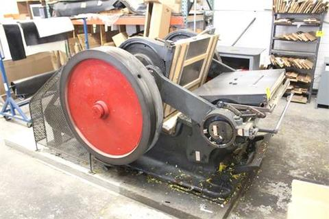 THOMPSON (EST) PLATEN DIE CUTTER, WITH REEVES VARIABLE SPEED GEAR DRIVE