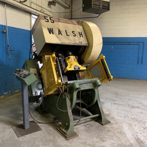 55 TON WALSH O.B.I. PUNCH PRESS