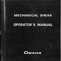 Amada Mechanical Shear Operator's Manual Model M-1245, M-1260, M2045, M2545, M-2560, M-3045, M-3060, M-4045, M-4060.pdf