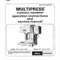 Denison Multipress Model WR 4,6,8 Ton & WT 10 & 12 Ton Operation & Service Manual.pdf