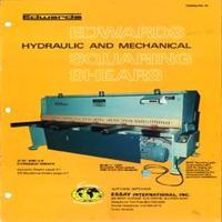 Edwards Hydraulic & Mechanical Squaring Shears Model 1250, 2000, 2500, 3000 Catalog.pdf