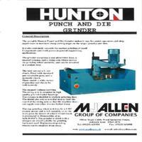 Hunton Vertical Punch & Die Grinder Manual, Models BG790, BG790S, BG90, BG90S, BG90-W, BG90S-W.pdf