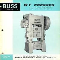 Bliss S1 Straight Side One Point S1-60, S1-75, S1-100, S1-125, S1-150, S1-175, S1-200, S1-250, S1-300, s!-400, S1-500, S1-600 Catalog 9-F.pdf