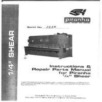 Piranha .25 inch Shear Manual.pdf