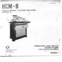 USM Hytronic Model B Die Cutter Operating & Service Instructions & Parts Catalog.pdf
