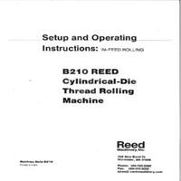 Reed B210 Cylindrical Die Thread Rolling Machine Setup & Operating Instructions.pdf