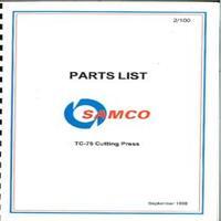 Samco TC-75 Cutting Press Parts List.pdf