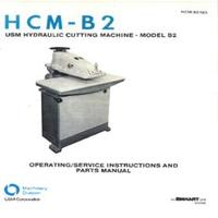 USM Model B2 Clicker Press Operating & Service Instructions & Parts Manual.pdf